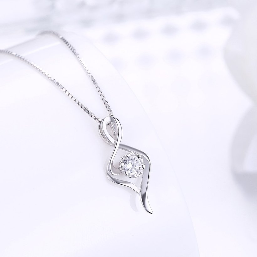 Wholesale Trendy 925 Sterling Silver CZ Necklace TGSSN030 1