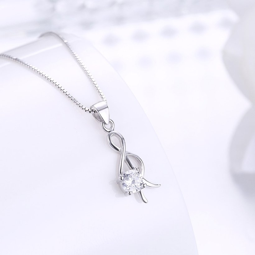 Wholesale Trendy 925 Sterling Silver CZ Necklace TGSSN034 1