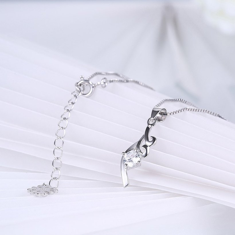 Wholesale Fashion 925 Sterling Silver CZ Necklace TGSSN045 3