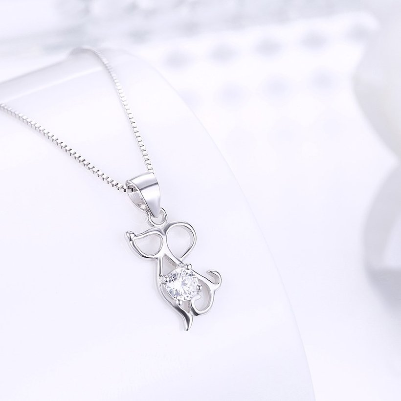 Wholesale Fashion 925 Sterling Silver Animal CZ Necklace TGSSN056 1