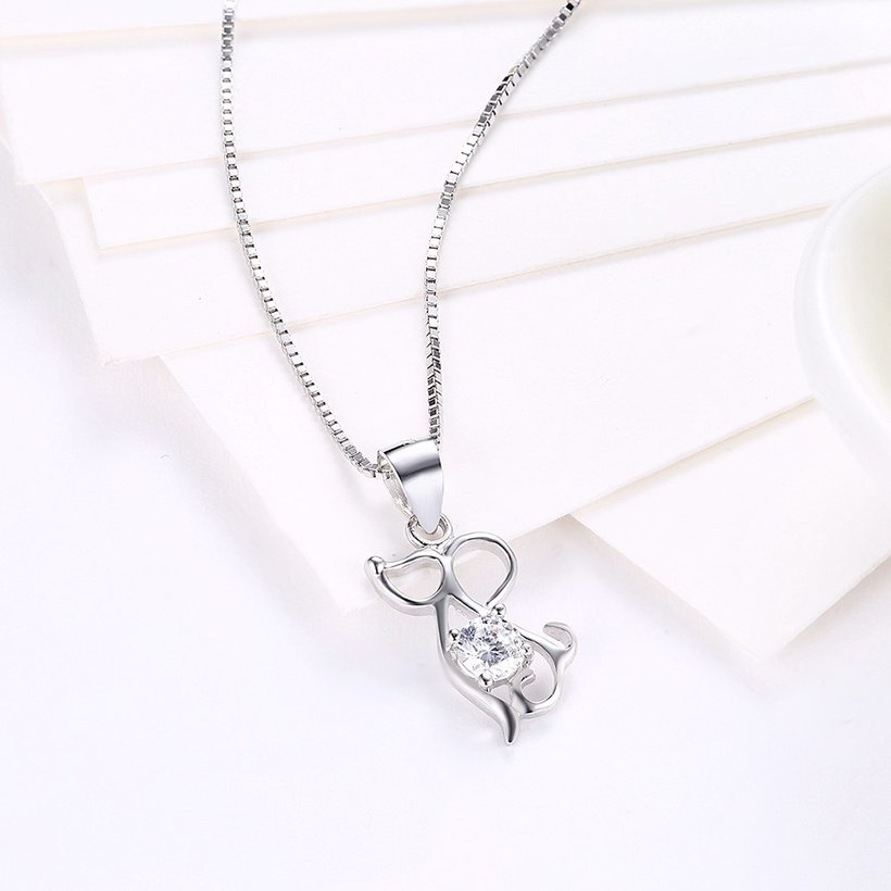 Wholesale Fashion 925 Sterling Silver Animal CZ Necklace TGSSN056 2