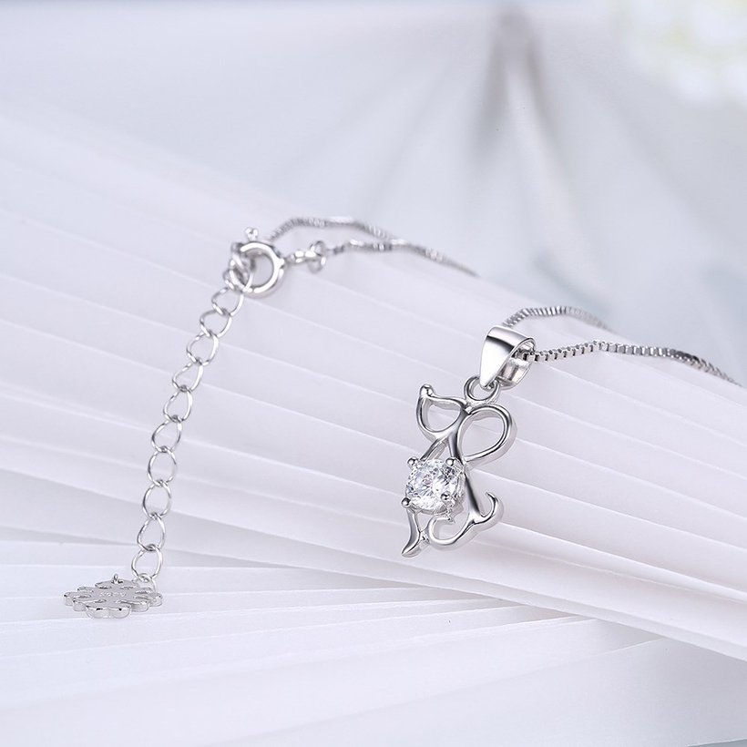 Wholesale Fashion 925 Sterling Silver Animal CZ Necklace TGSSN056 3