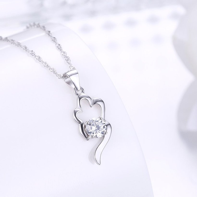 Wholesale Trendy 925 Sterling Silver CZ Necklace TGSSN066 1