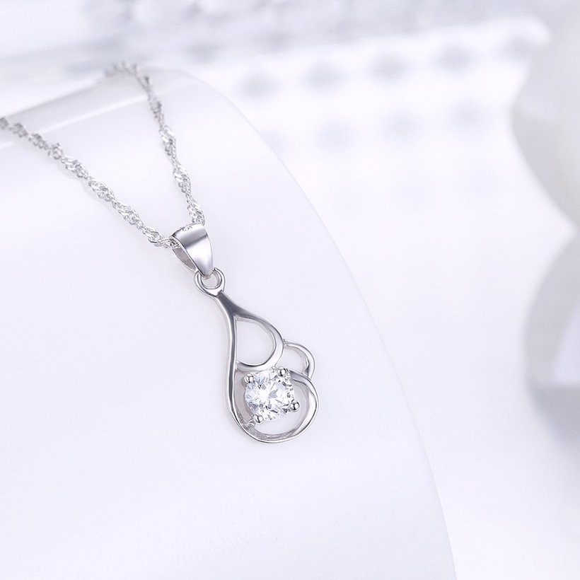 Wholesale 2018 New Style 925 Sterling Silver CZ Necklace TGSSN068 1