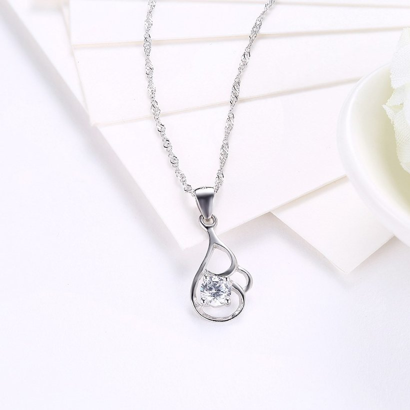 Wholesale 2018 New Style 925 Sterling Silver CZ Necklace TGSSN068 2