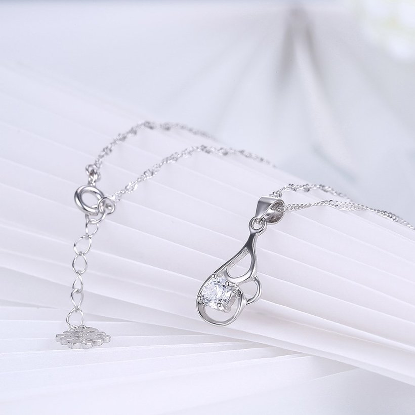 Wholesale 2018 New Style 925 Sterling Silver CZ Necklace TGSSN068 3