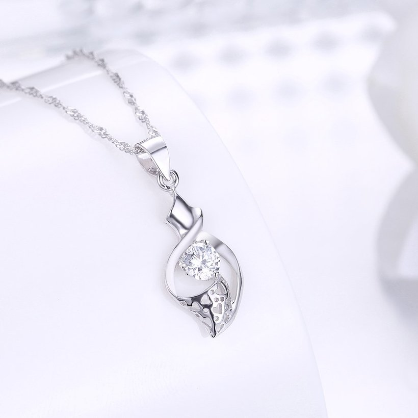 Wholesale New Fashion 925 Sterling Silver CZ Necklace TGSSN079 1