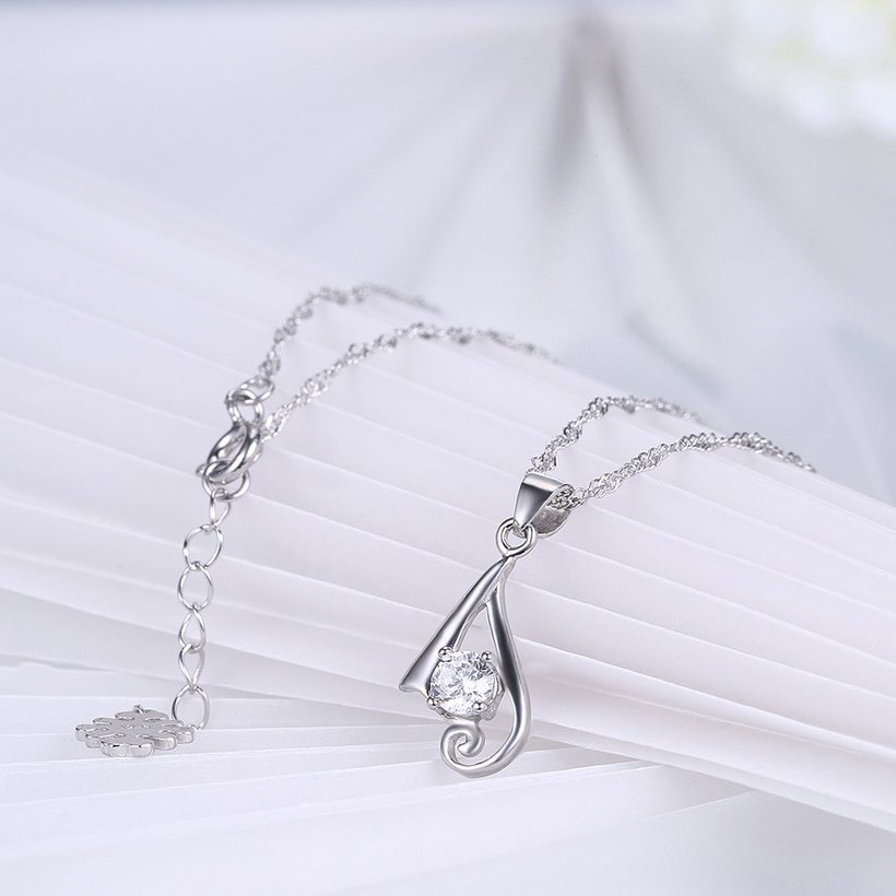 Wholesale New Fashion 925 Sterling Silver CZ Necklace TGSSN084 3