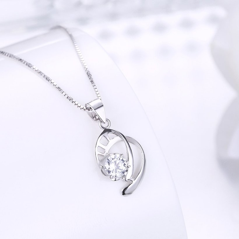 Wholesale 2018 New Style 925 Sterling Silver CZ Necklace TGSSN087 1