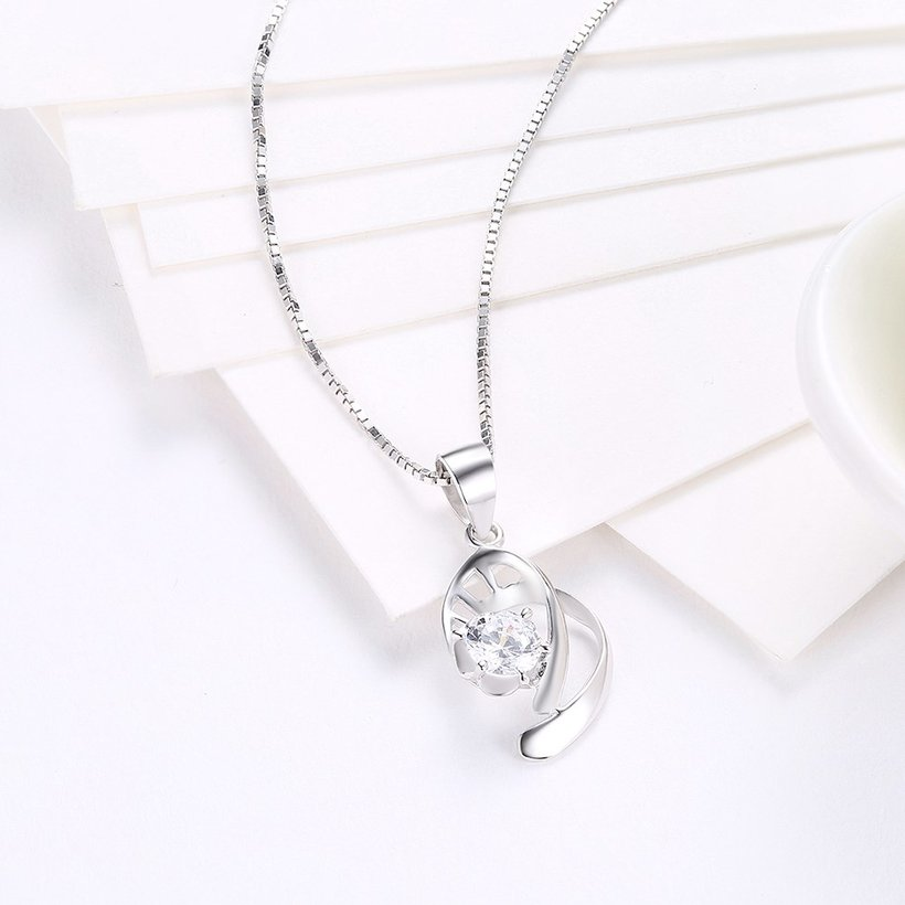 Wholesale 2018 New Style 925 Sterling Silver CZ Necklace TGSSN087 2