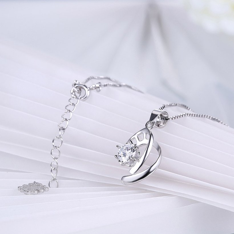 Wholesale 2018 New Style 925 Sterling Silver CZ Necklace TGSSN087 3