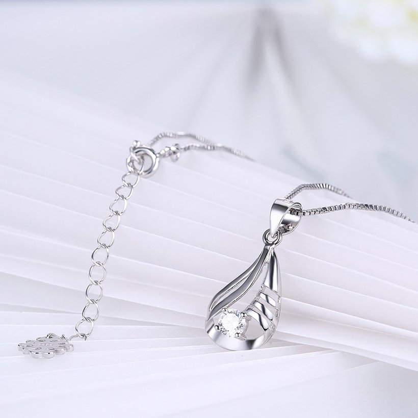 Wholesale Discount Fashion 925 Sterling Silver CZ Necklace TGSSN090 3