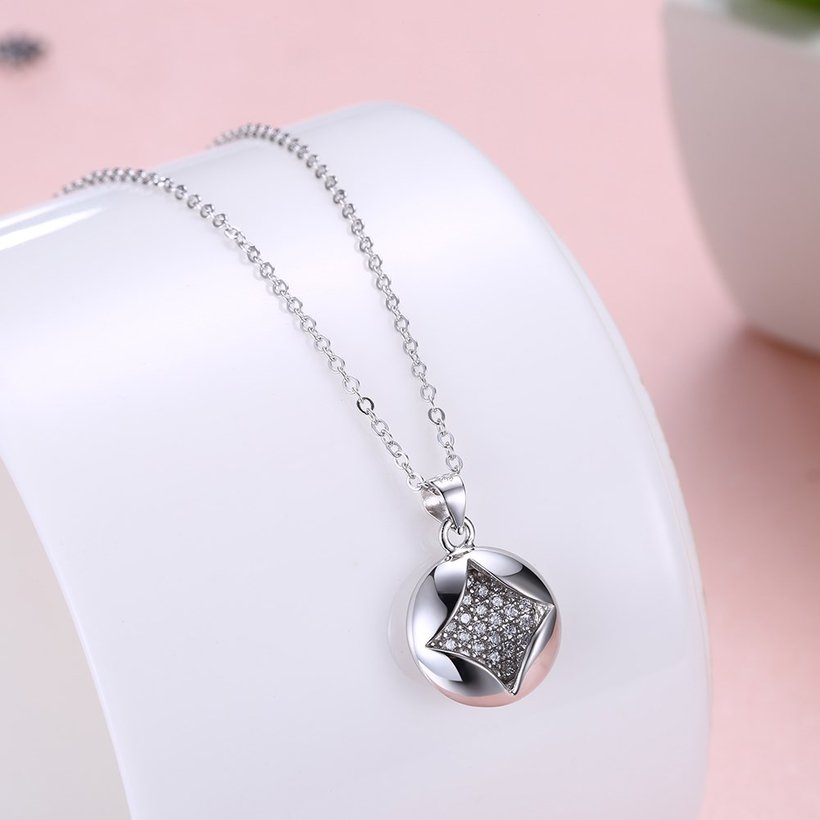 Wholesale Boutique studded stars CZ Pure S925 Sterling Silver Pandent Necklace TGSSN025 5