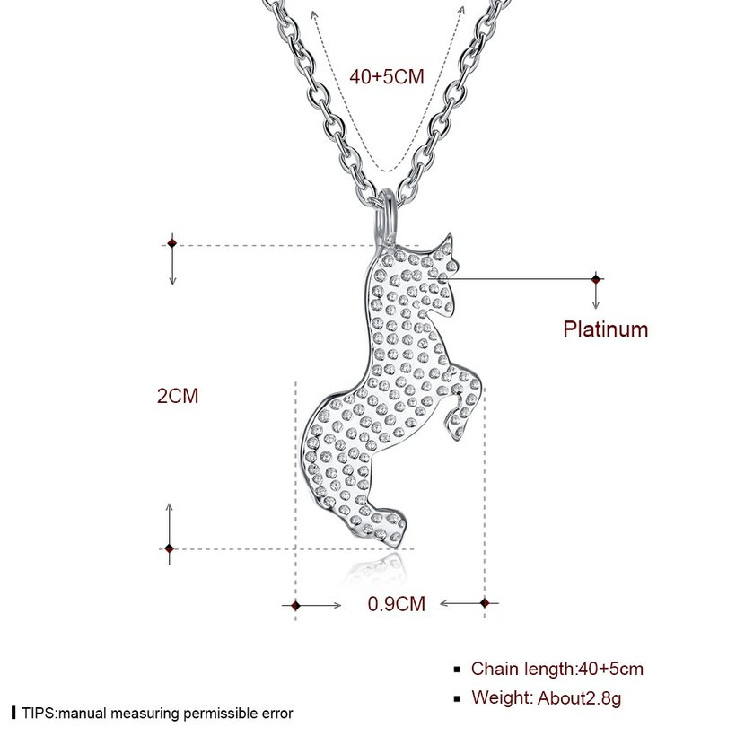 Wholesale Frosting bullfight pure S925 Sterling Silver pandent Necklace TGSSN041 4