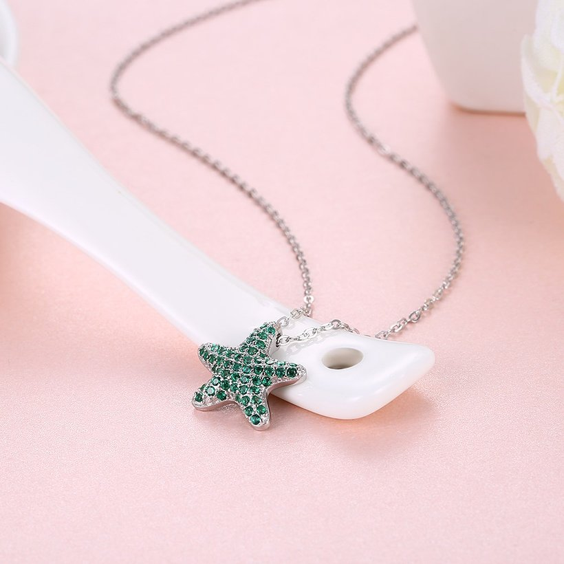 Wholesale Starfish Creative pure S925 Sterling Silver pandent Necklace TGSSN046 0