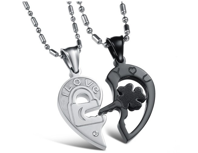 Wholesale The best gifts stainless steel couples Necklacepair TGSTN029 4