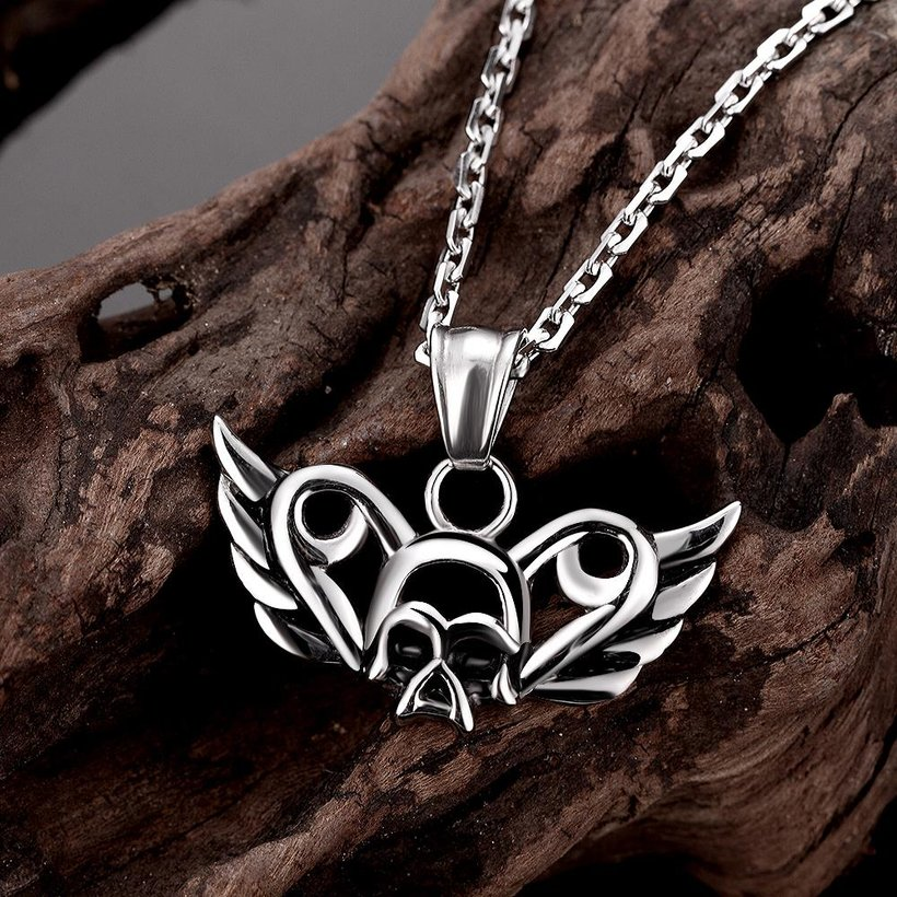 Wholesale Vintage 316L stainless steel Animal Necklace TGSTN094 2