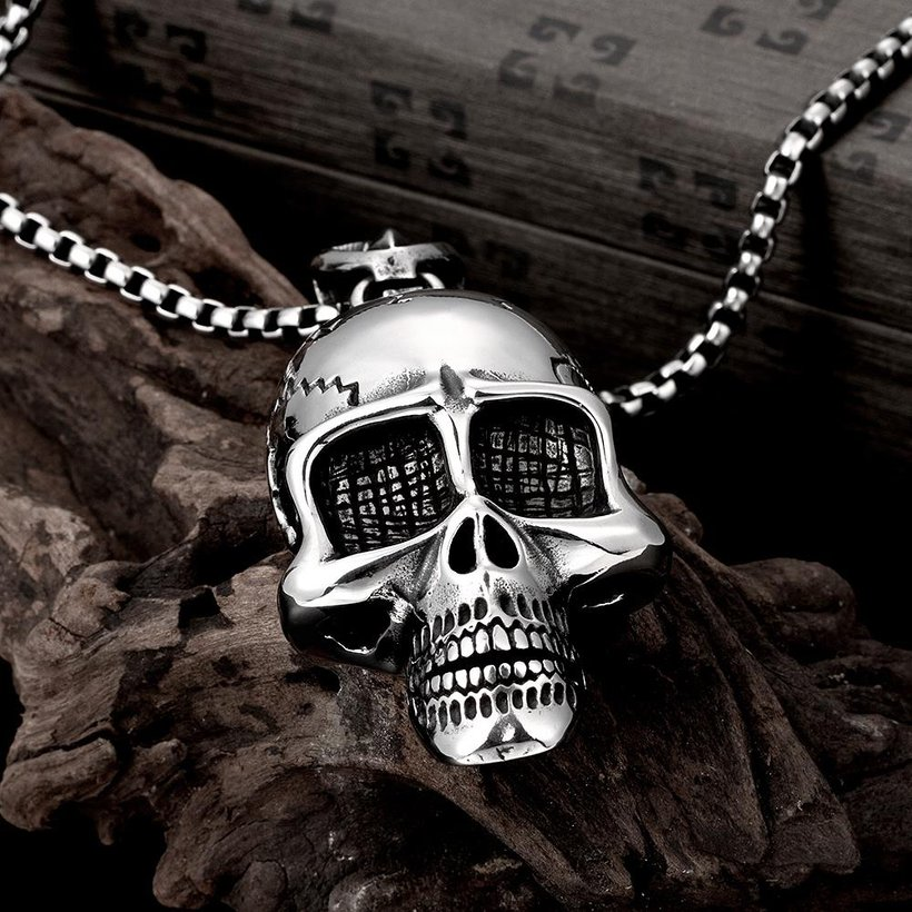 Wholesale Punk 316L stainless steel Skeleton Necklace TGSTN098 0