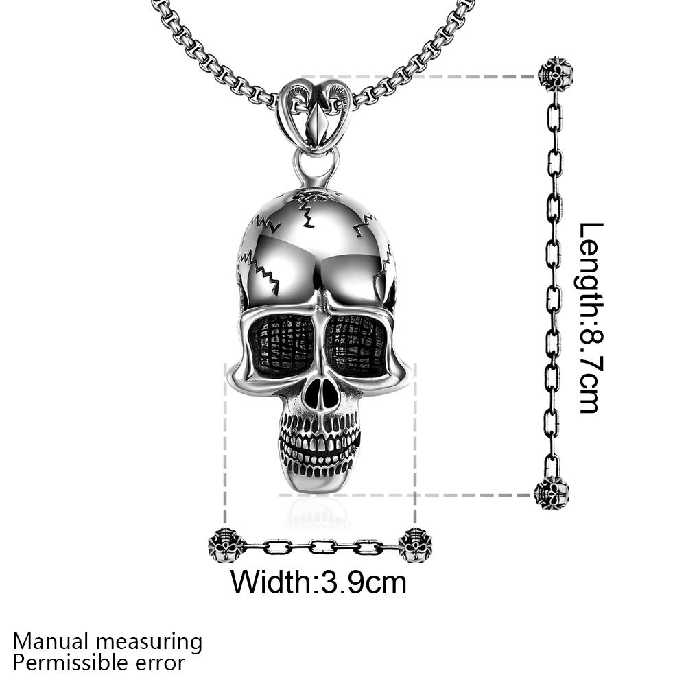Wholesale Punk 316L stainless steel Skeleton Necklace TGSTN098 1