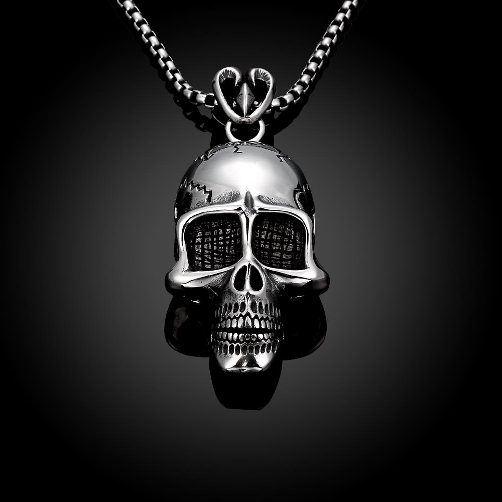 Wholesale Punk 316L stainless steel Skeleton Necklace TGSTN098 2