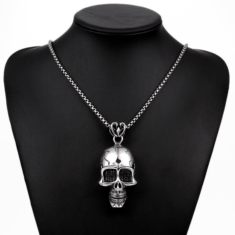 Wholesale Punk 316L stainless steel Skeleton Necklace TGSTN098 4