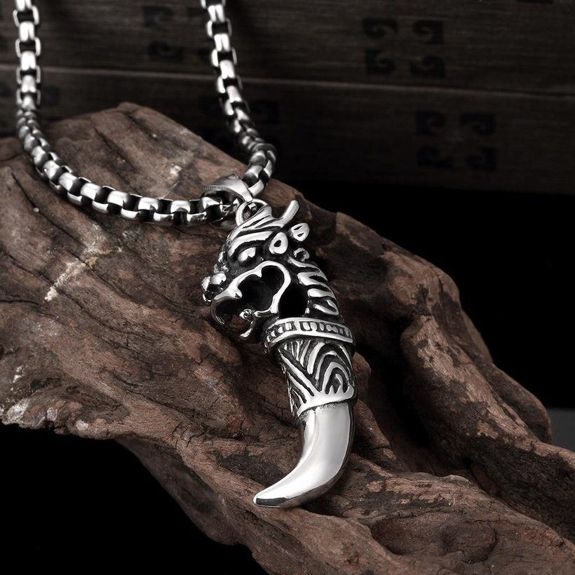 Wholesale Vintage 316L stainless steel Animal Necklace TGSTN104 2