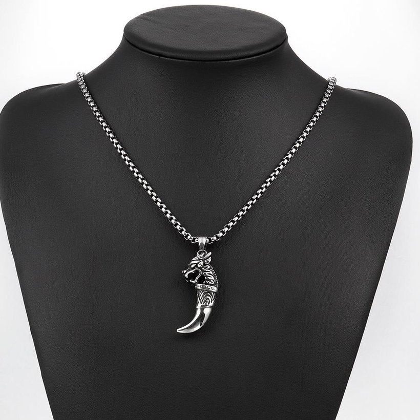 Wholesale Vintage 316L stainless steel Animal Necklace TGSTN104 4