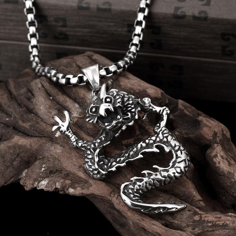 Wholesale Vintage 316L stainless steel Animal Necklace TGSTN106 2