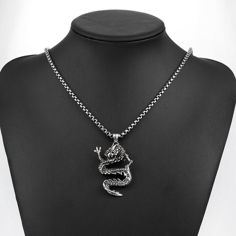 Wholesale Vintage 316L stainless steel Animal Necklace TGSTN106 4