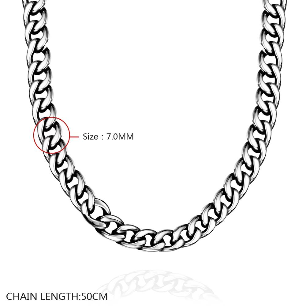 Wholesale Punk 316L stainless steel Geometric Necklace TGSTN111 0