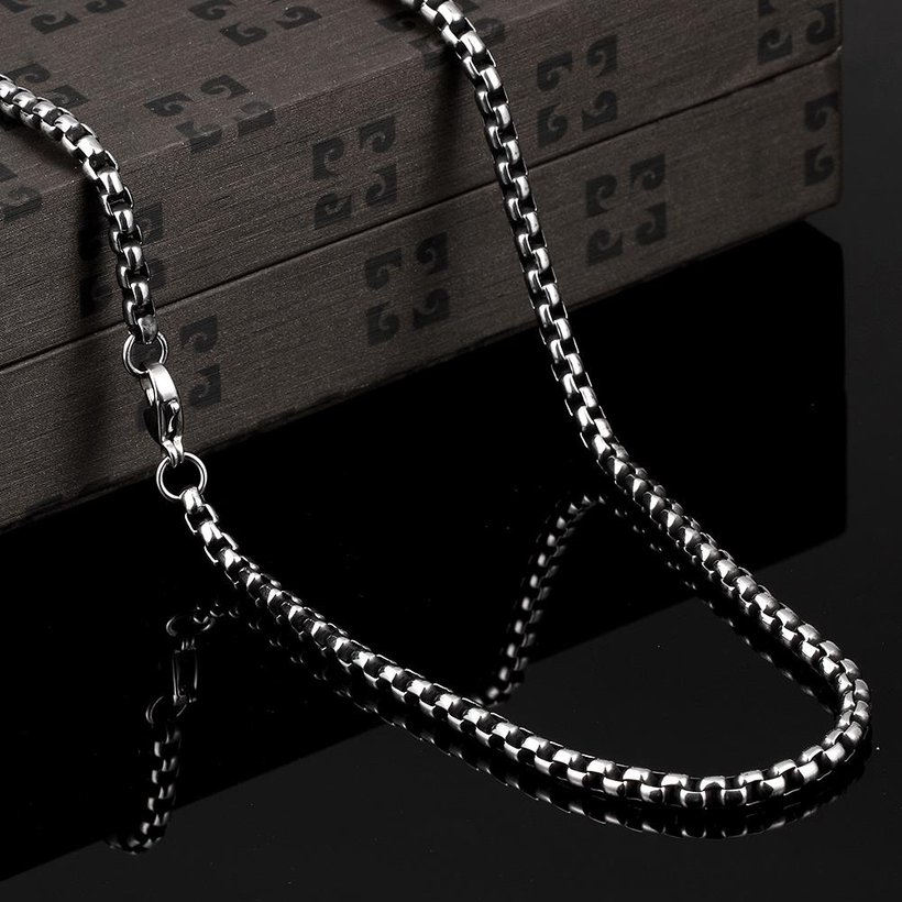 Wholesale Punk 316L stainless steel Geometric Necklace TGSTN112 2