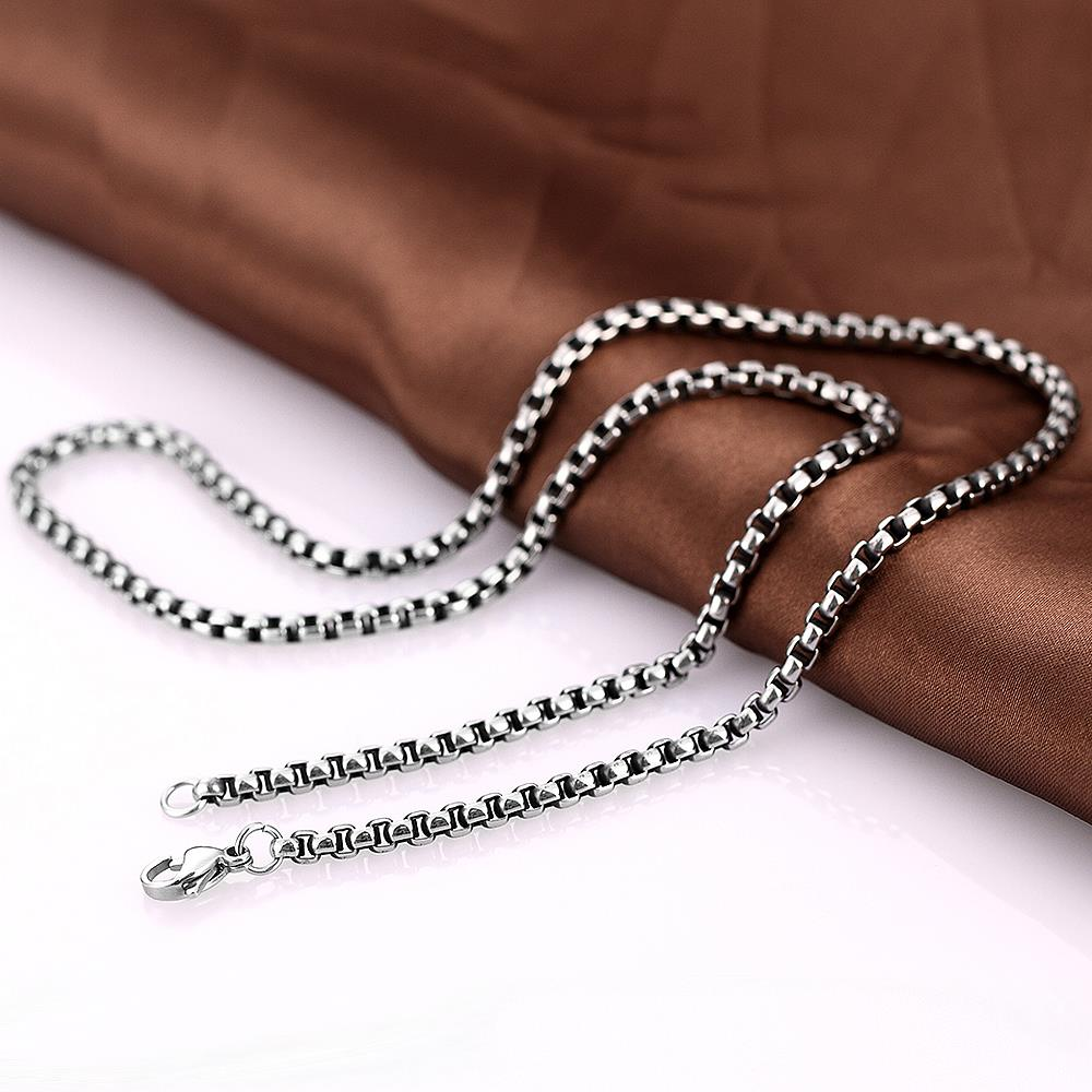 Wholesale Punk 316L stainless steel Geometric Necklace TGSTN112 3