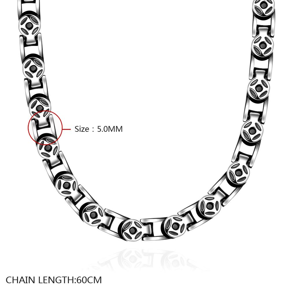 Wholesale Punk 316L stainless steel Geometric Necklace TGSTN113 0