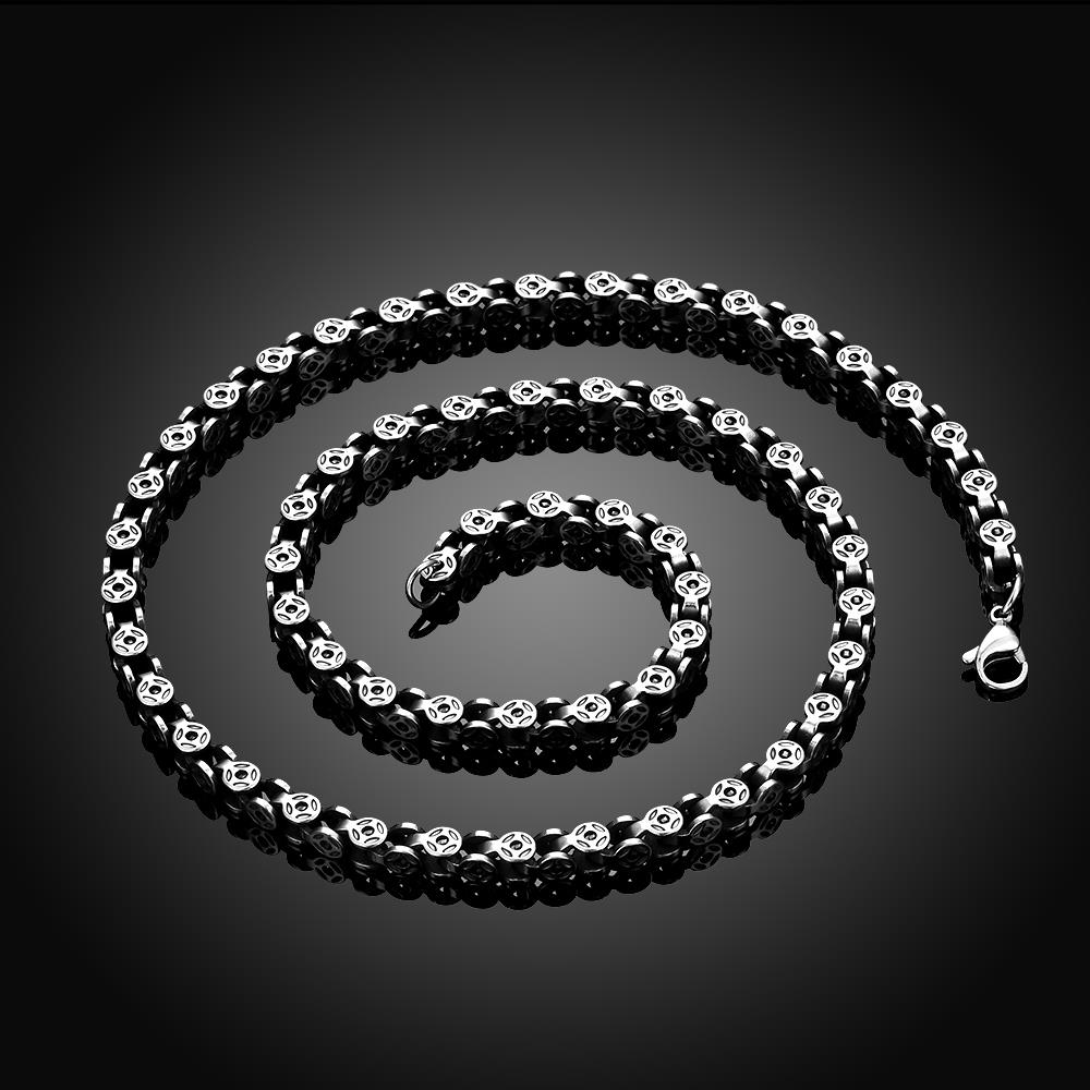 Wholesale Punk 316L stainless steel Geometric Necklace TGSTN113 1