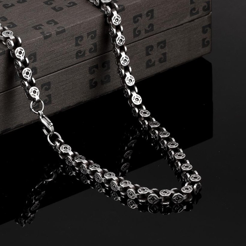 Wholesale Punk 316L stainless steel Geometric Necklace TGSTN113 2