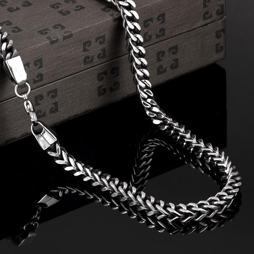 Wholesale Punk 316L stainless steel Geometric Necklace TGSTN115 2