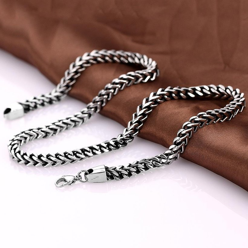 Wholesale Punk 316L stainless steel Geometric Necklace TGSTN115 3