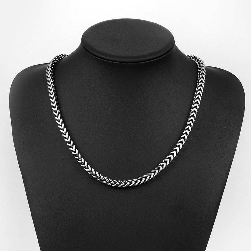 Wholesale Punk 316L stainless steel Geometric Necklace TGSTN115 4