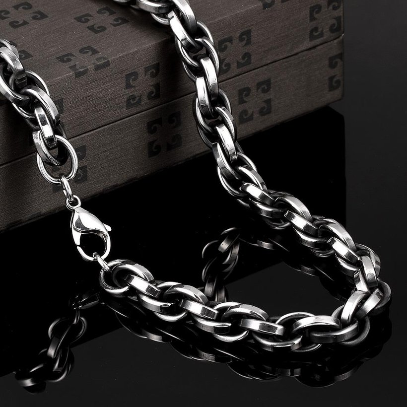 Wholesale Punk 316L stainless steel Geometric Necklace TGSTN117 2