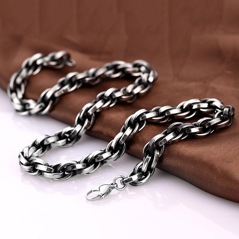 Wholesale Punk 316L stainless steel Geometric Necklace TGSTN117 3