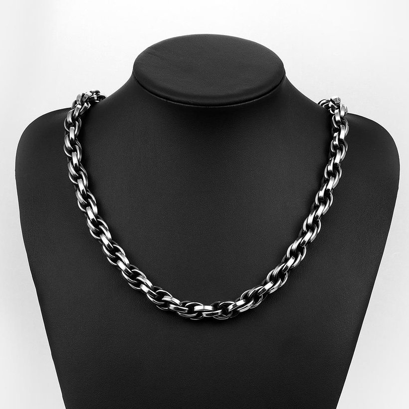 Wholesale Punk 316L stainless steel Geometric Necklace TGSTN117 4