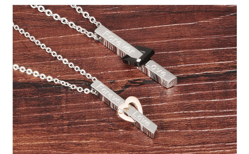 Wholesale New Style Fashion Stainless Steel Couples necklaceLovers TGSTN022 5