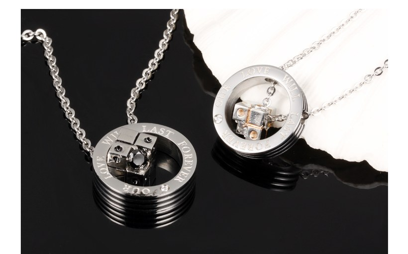 Wholesale New Style Fashion Stainless Steel Couples necklaceLovers TGSTN023 5