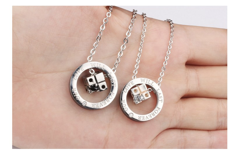 Wholesale New Style Fashion Stainless Steel Couples necklaceLovers TGSTN023 6