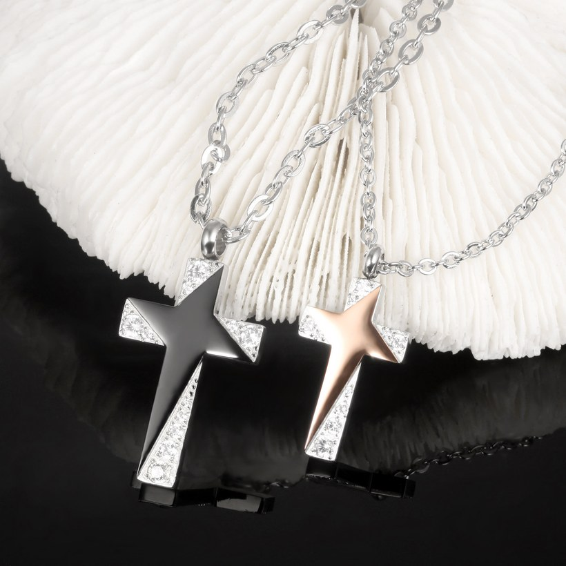 Wholesale Fashion Stainless Steel Couples necklaceLovers TGSTN006 0