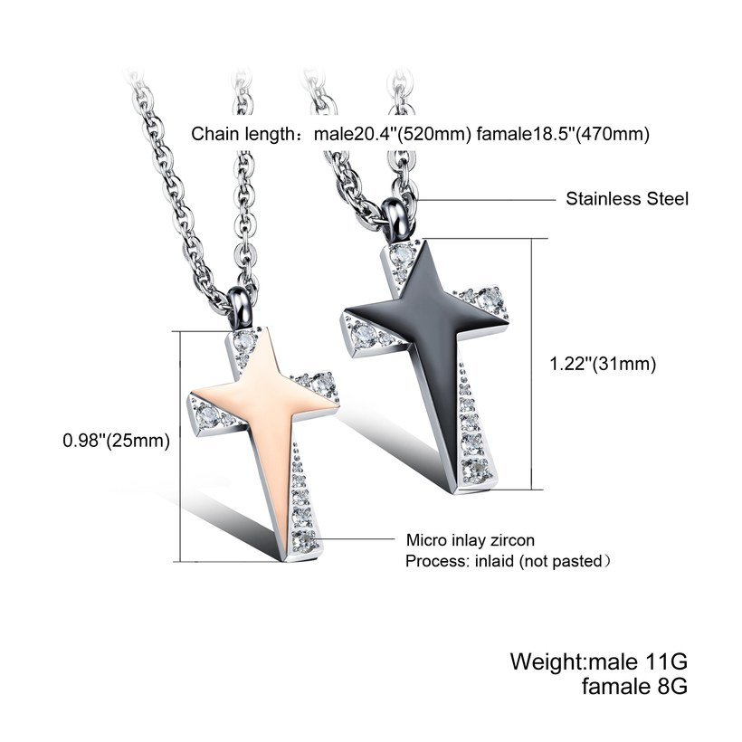 Wholesale Fashion Stainless Steel Couples necklaceLovers TGSTN006 1