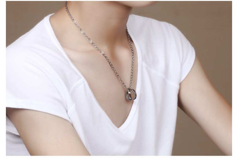 Wholesale Fashion Stainless Steel Couples necklaceLovers TGSTN007 5