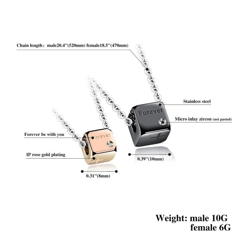 Wholesale Fashion Stainless Steel Couples necklaceLovers TGSTN008 1