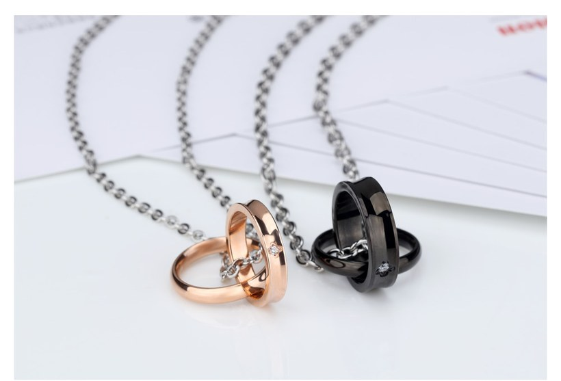 Wholesale Fashion Stainless Steel Couples necklaceLovers TGSTN009 3