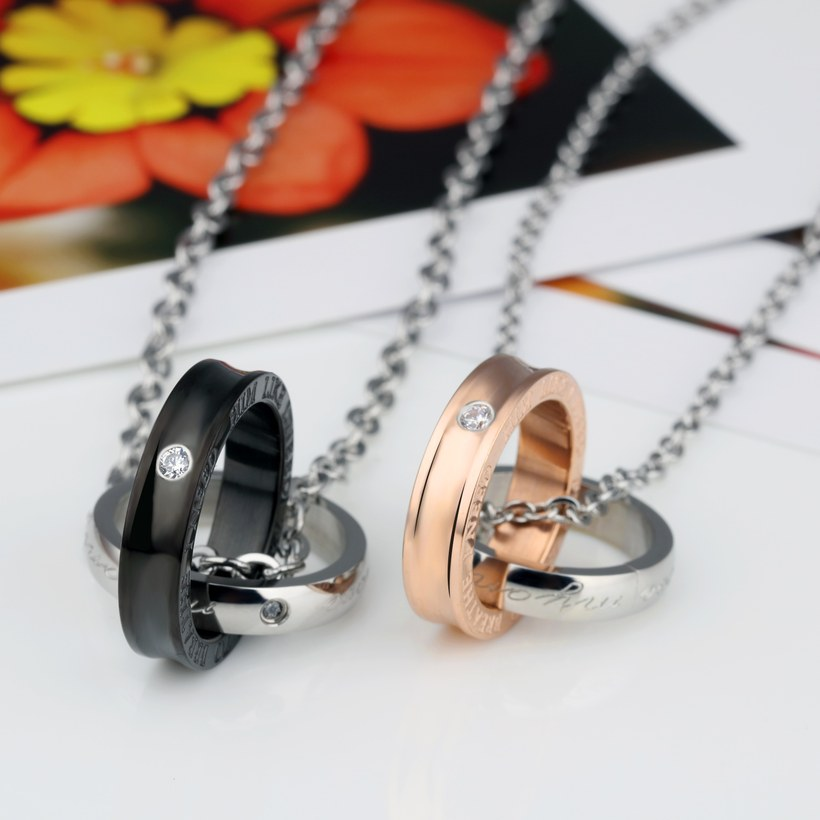 Wholesale New Fashion Stainless Steel Couples necklaceLovers TGSTN012 0